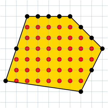 lattice with polygon and interior highlighted