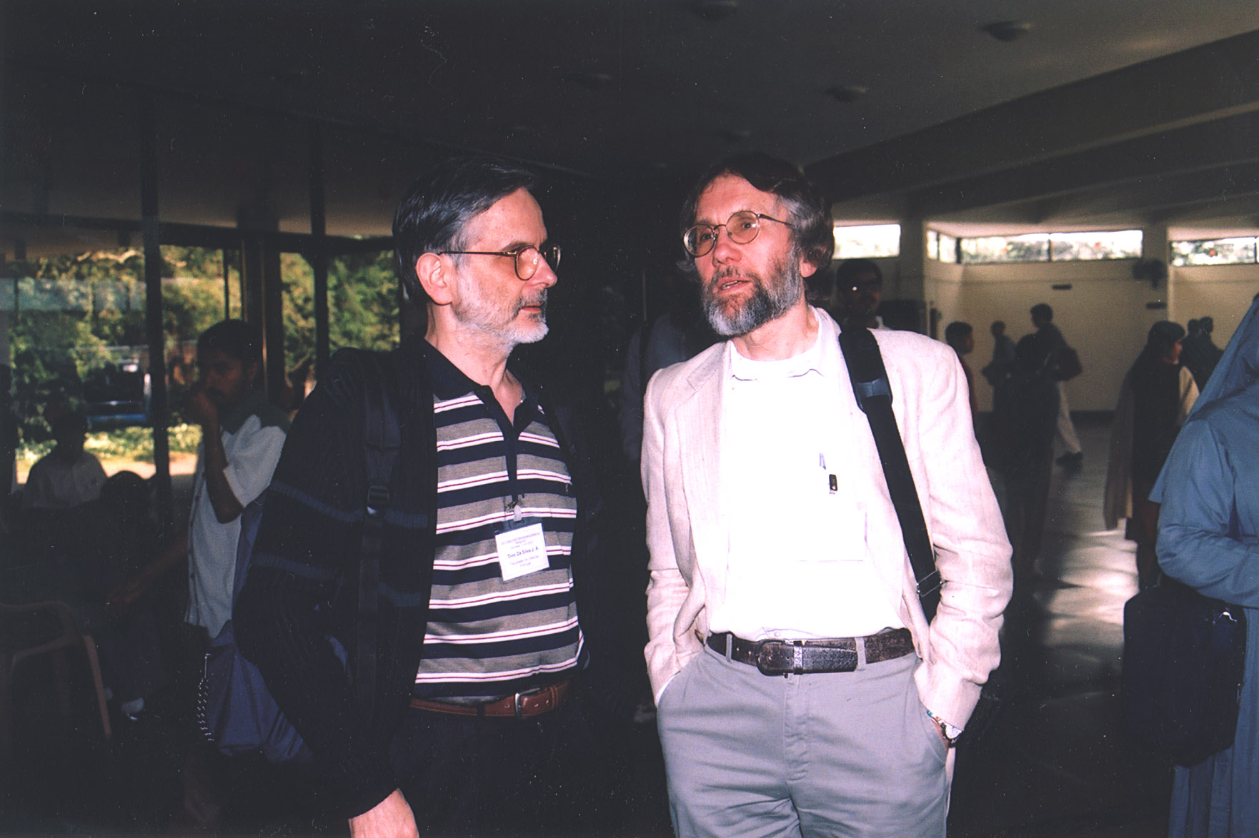 A picture of some of the Electronic J. of Combinatorics editors taken at  the 2004 combinatorics conference in Lake Taupo, New Zealand (Tank Aldred,  ...